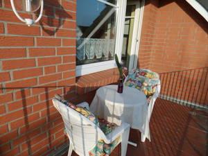 Cuxhaven - Fewo Süd-West Balkon