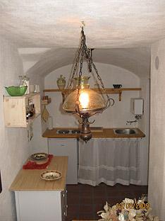 Küche in Fewo und strahlungsarmer Urlaub in Bayern