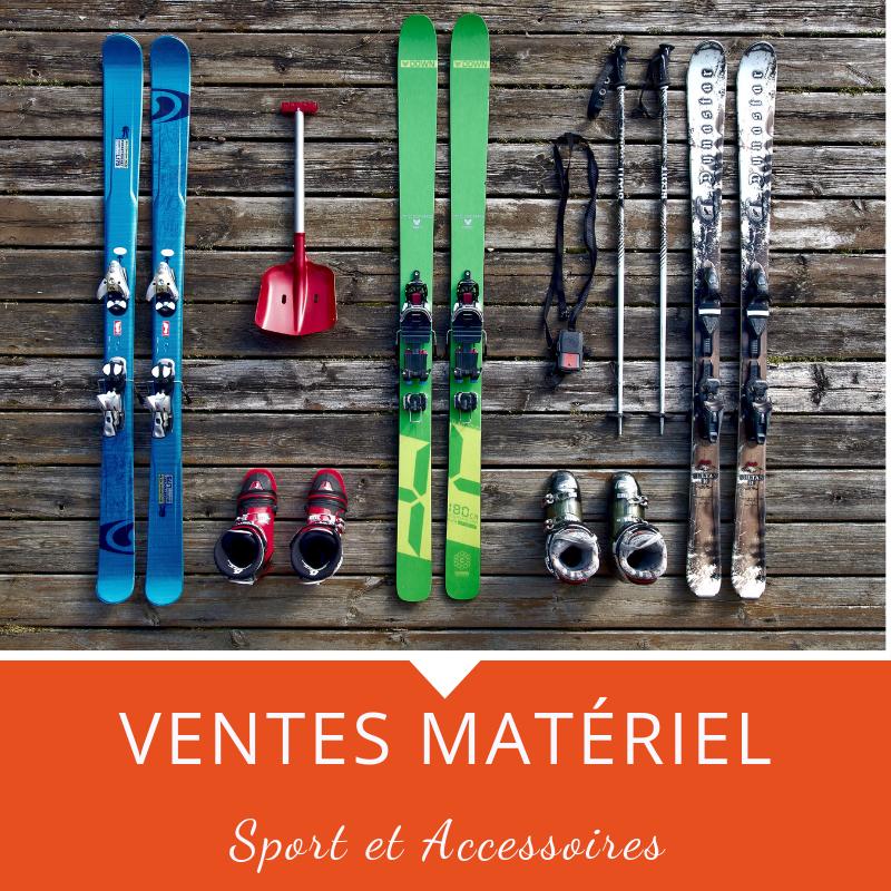 Vente de matériel de sport et d'accessoire
