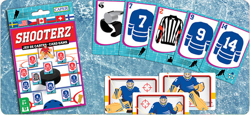 Shooterz Hockey Card Game, gamebox and content