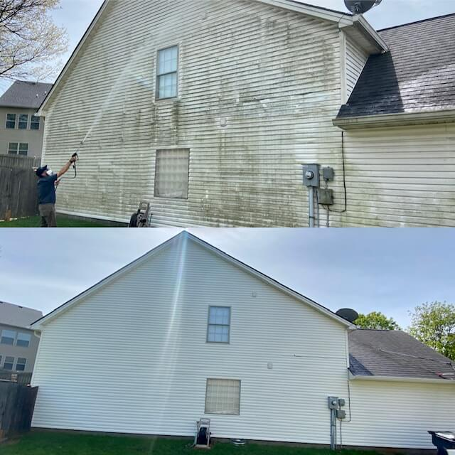 House Washing, residential and commercial pressure washing in Lexington, Kentucky