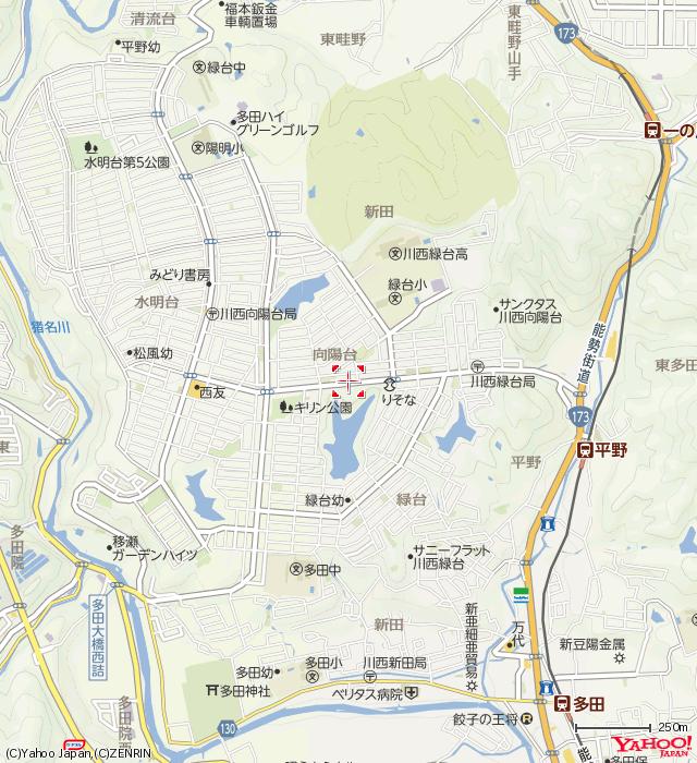 多田グリーンハイツ教室地図