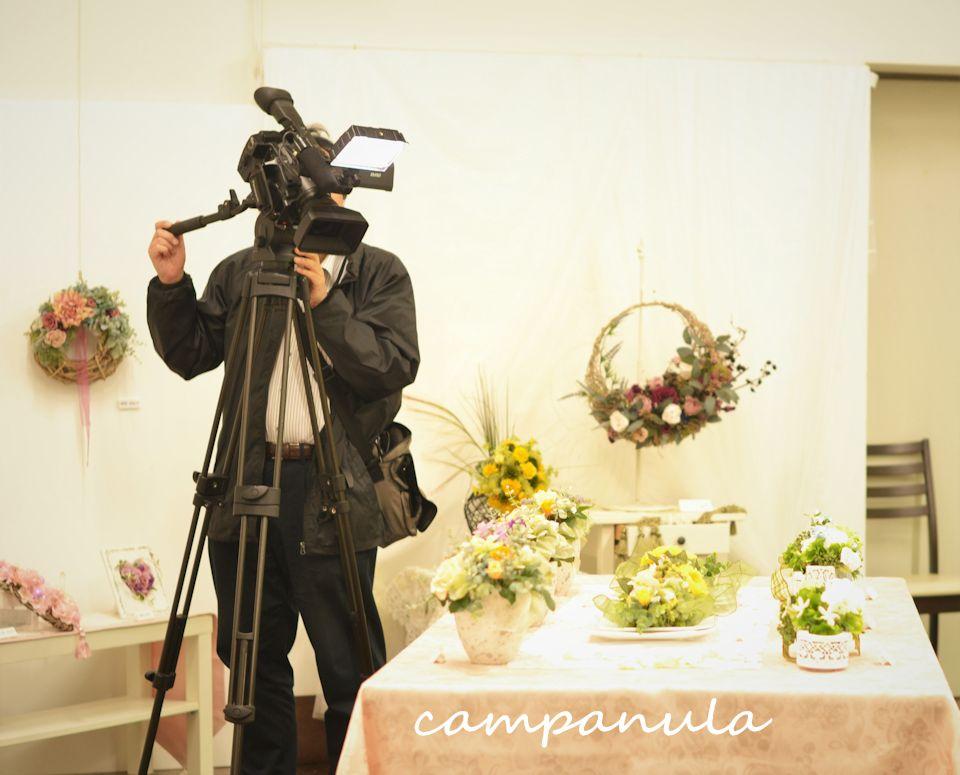 テレビ(JCOM)の取材がありディリーニュースにて展示会の様子が放送されました