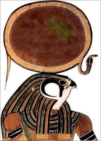 Horus: il peut être Ré-Horahkty, Horus de l' horizon. Il est le soleil levant et le soleil couchant Sa reproduction est un faucon avec sur la tête le disque solaire de Amun-Ra.