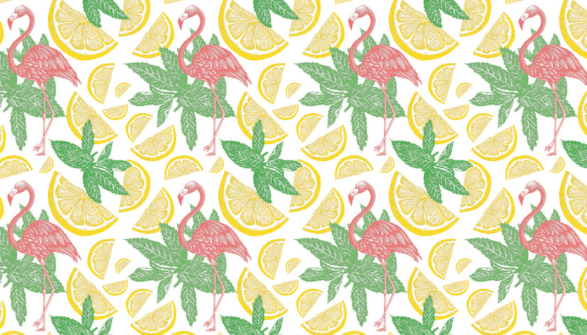 nina georgiev flamingo patterndesign