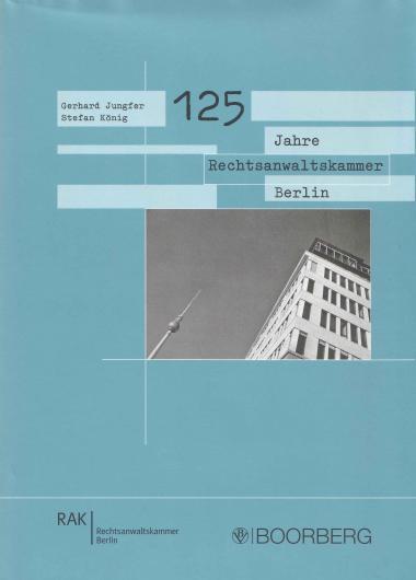 "Jahr: 2006. Hrsg. v. der Rechtsanwaltskammer Berlin, Richard Boorberg Verlag. Darin: Christian Dirks, ""Die Rechtsanwaltskammer Berlin 1945 bis 2004"". Leistungen: Recherche, Autor."