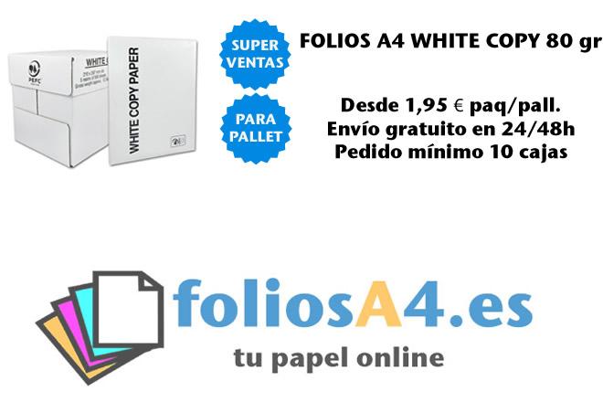 Comprar Paquete folios A4