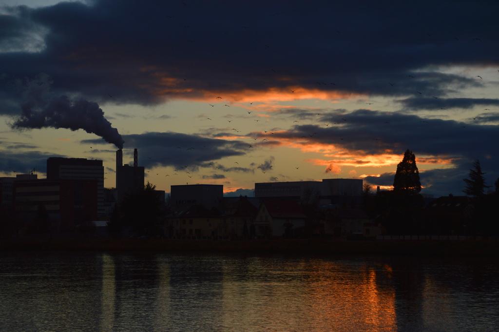 Abendstimmung am Rhein, Basel (CH)