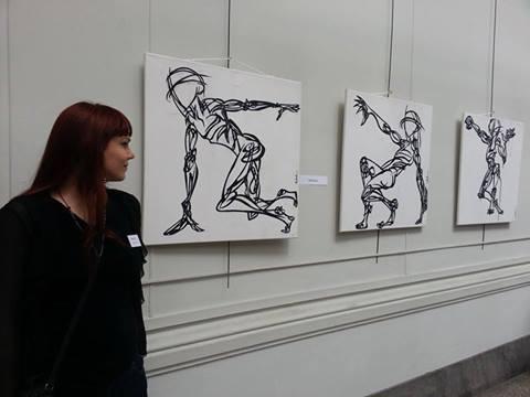 ma toute première exposition, a lyon, en 2013....