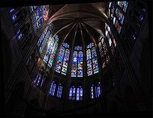 Vitrales Goticos,coro superior de la basilica de Sain Denis
