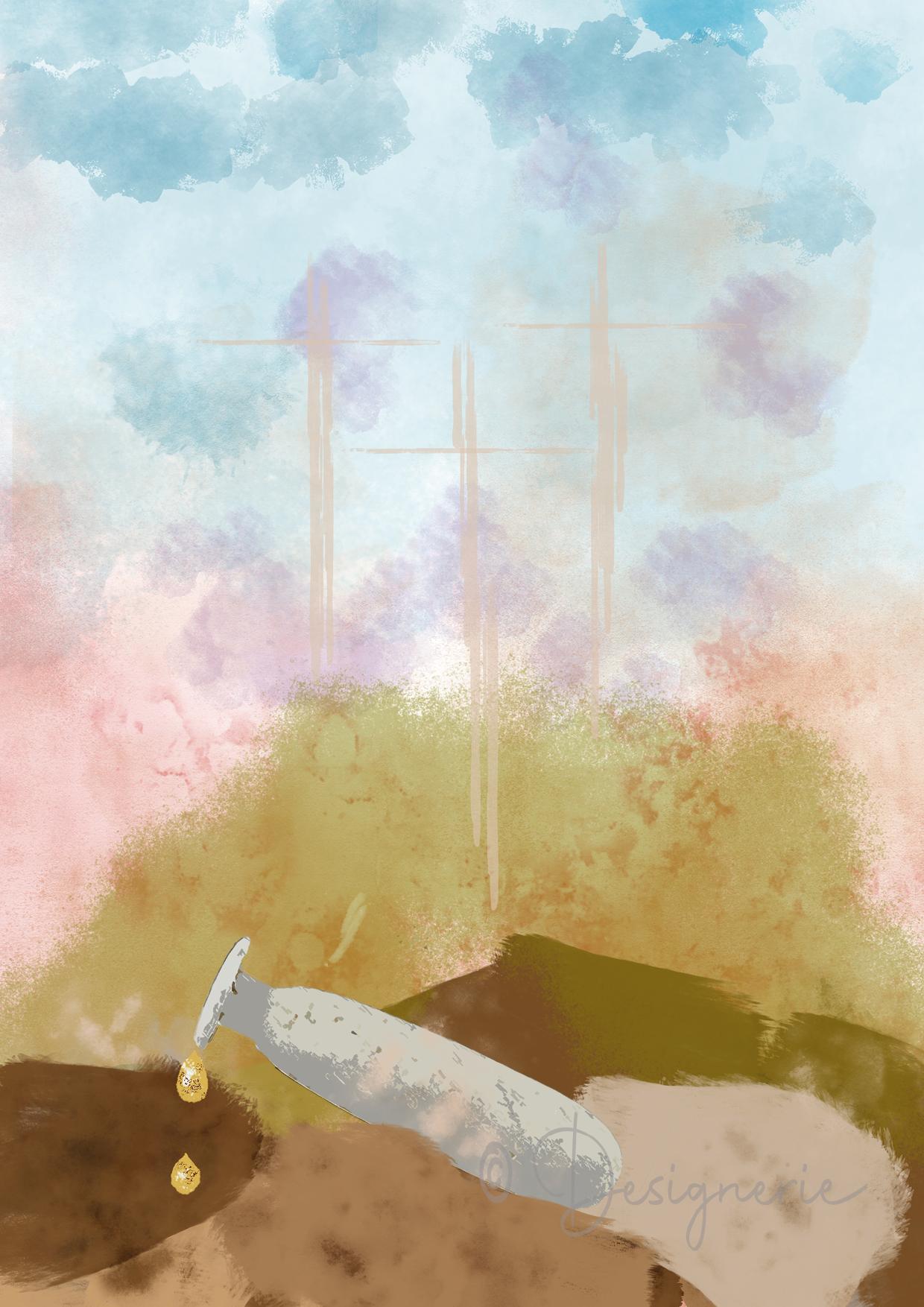2e schilderij 40-dagentijd - Albasten kruikje