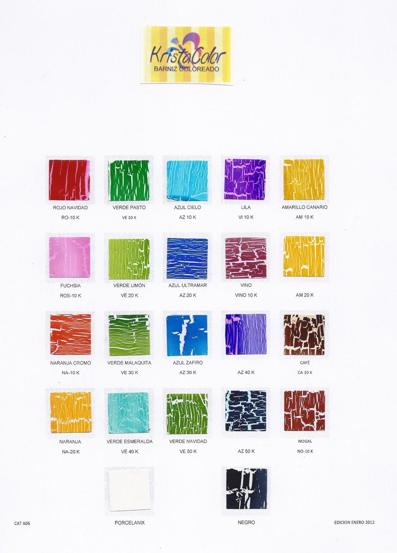 Krystacolor pinturas met licas y texturizados - Pintura para craquelar ...