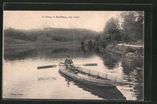 barque sur l'étang de Ruffaud