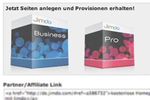 Jimdo Pakete für deine Kunden buchen