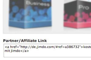 Jimdo Textlink für Webseiten und Mail