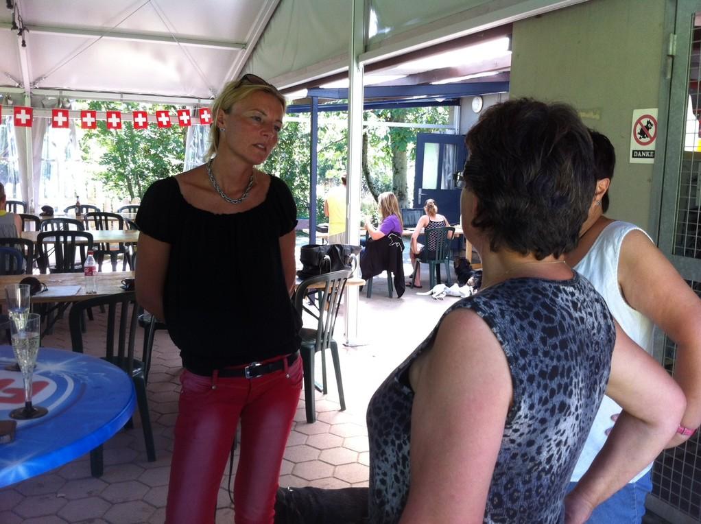 Fränzi im Gespräch mit Ulla