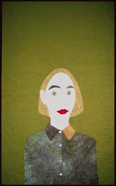 Frau vor Tapete, inspiriert durch M. Chodakowska