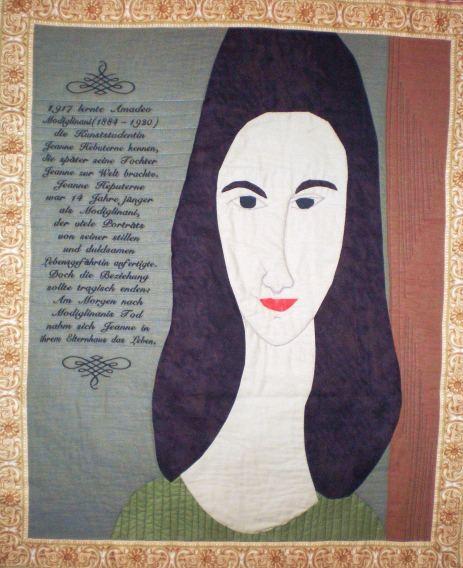 Jeanne Hebuterne, inspiriert durch A. Modigliani