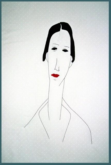 Modigliani Skizze, inspiriert durch A. Modigliani