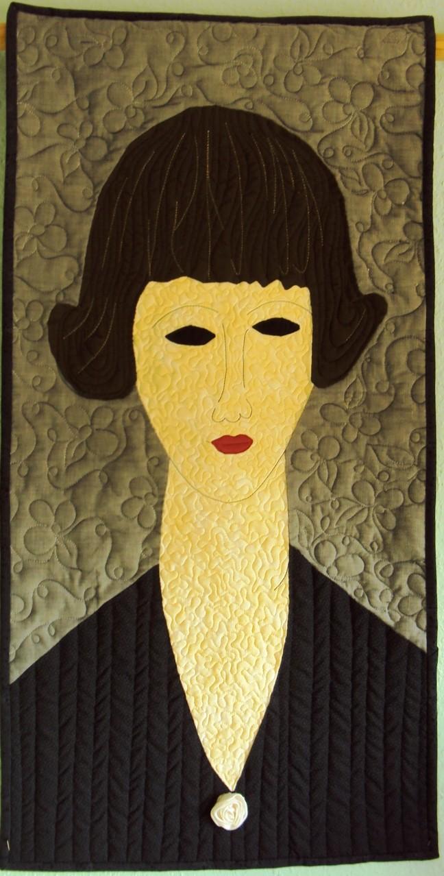 Junge Brünette, inspiriert durch A. Modigliani