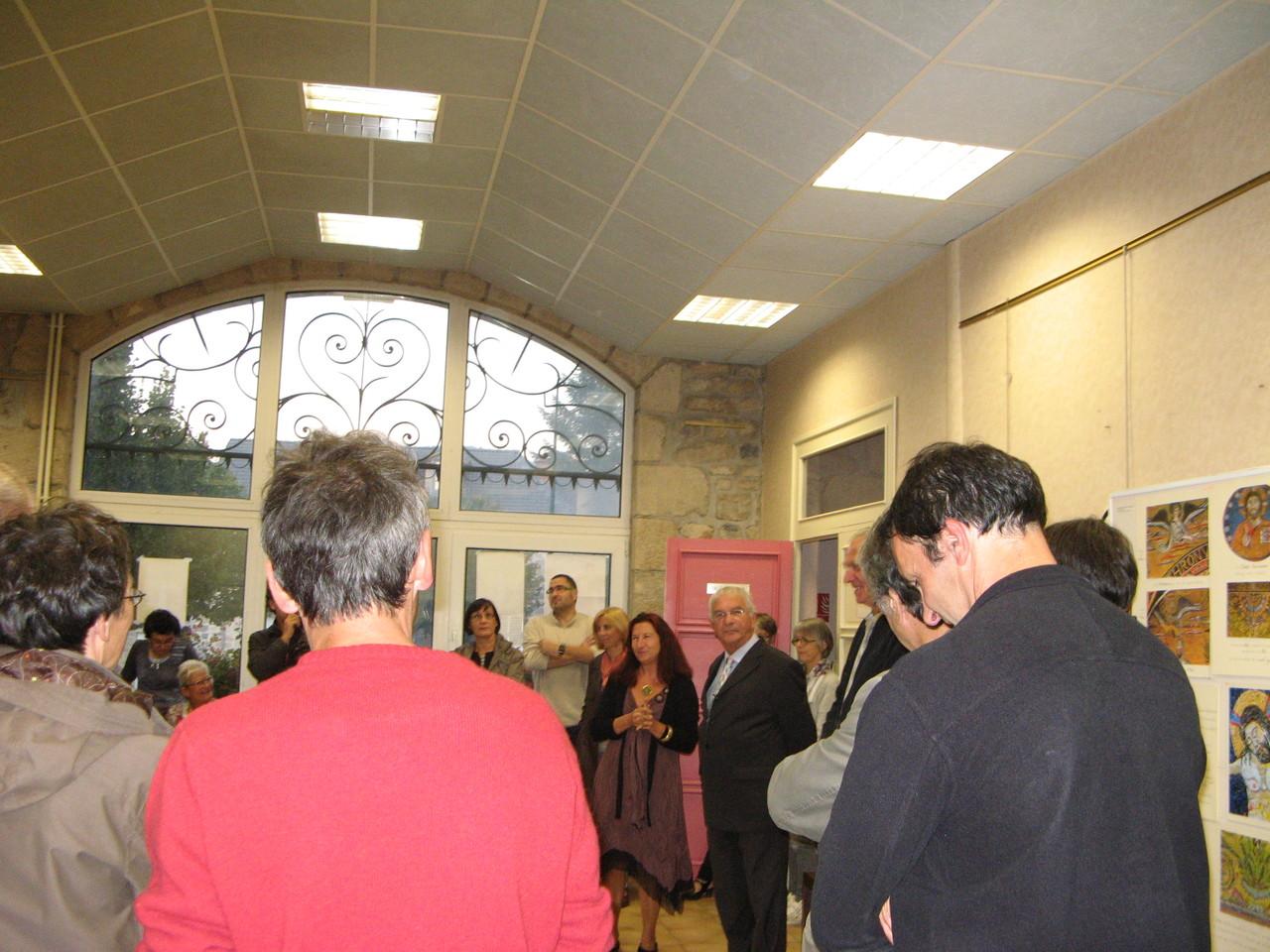 Discours d'inauguration salle de la mairie..