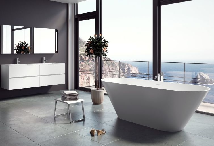 Wanne Barcelona Solid Surface 170x70cm