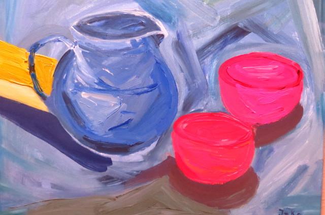 Blauer Krug (50 x 60)
