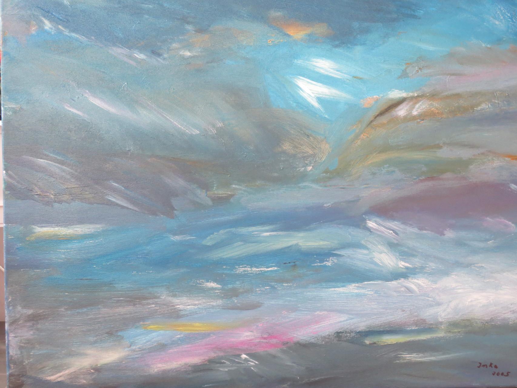 blue impression (50 x 70)