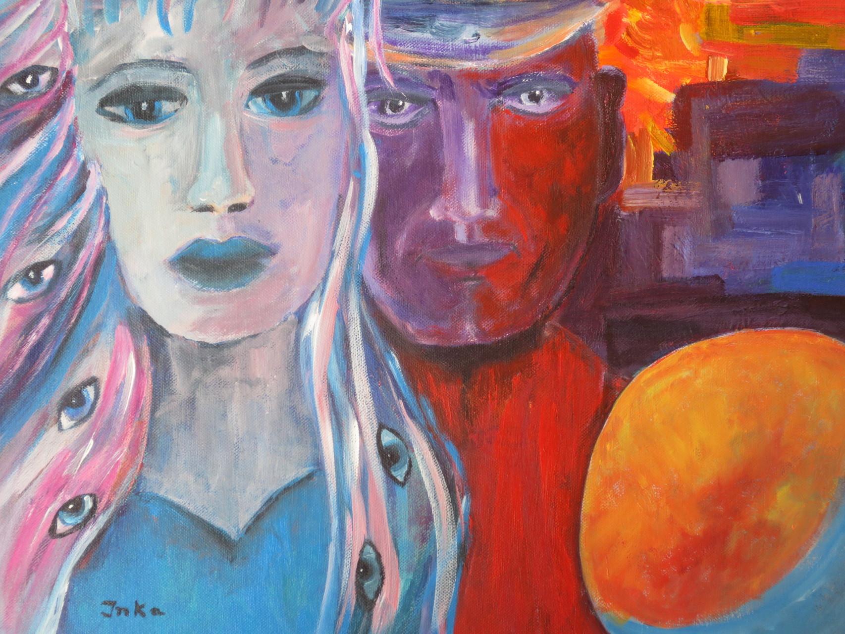 Luna und Sol 2 (50 x 50)