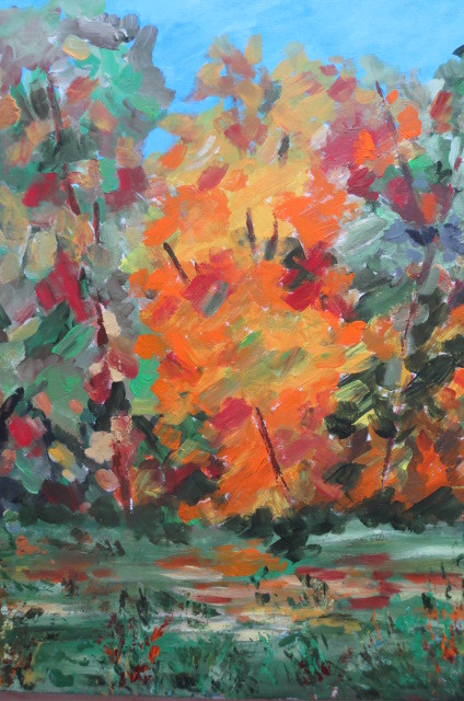 Roter Herbst (70 x 60)