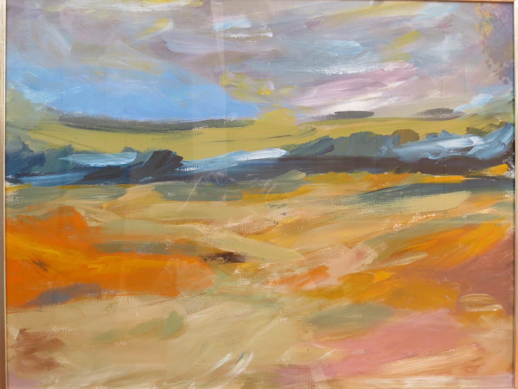 Himmel und Erde 2 (60 x 80) Acryl auf Papier, gerahmt