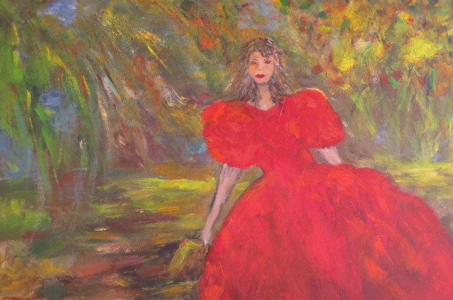 lady in red (50 x 70)