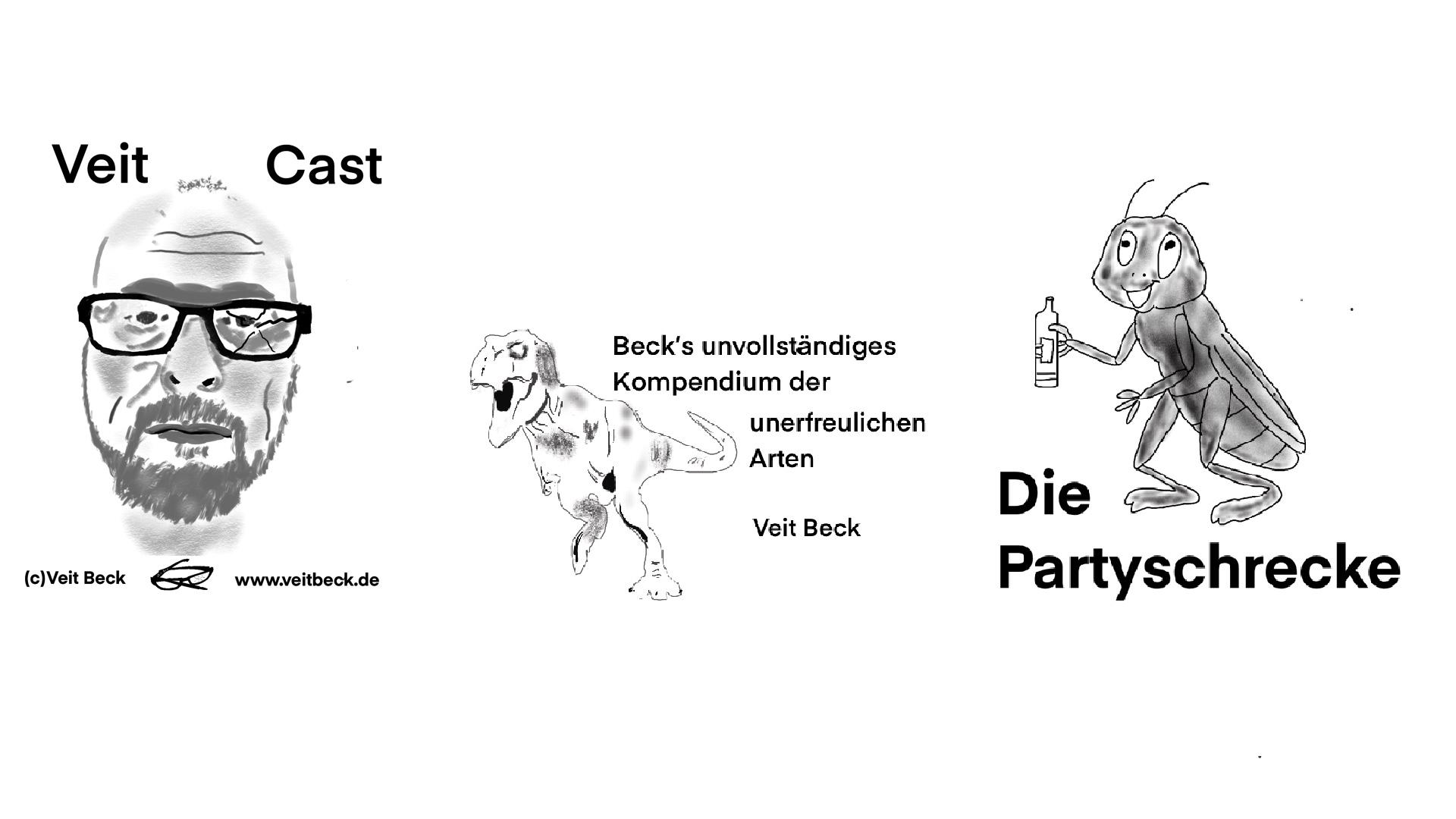 """Die Partyschrecke (aus """"Beck´s unvollständigem Kompendium der unerfreulichen Arten"""")"""