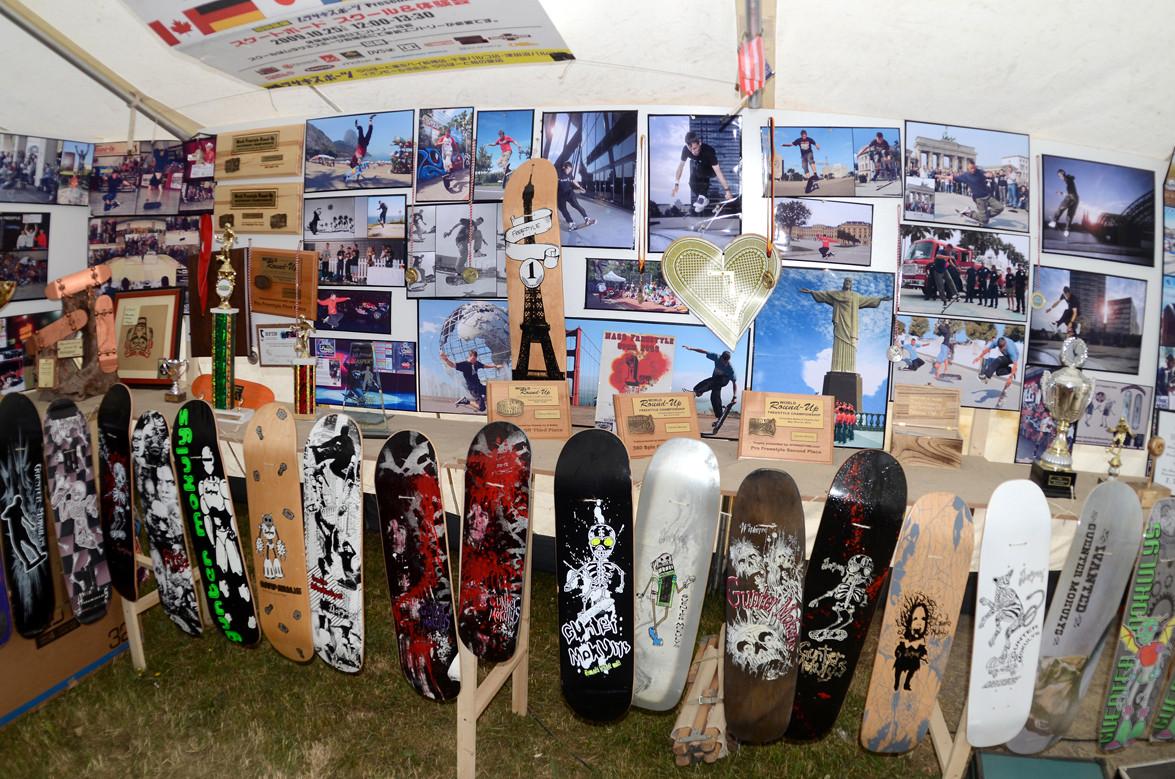 2002 - 2009 Contest. Pokale, Bilder, Skateboards.