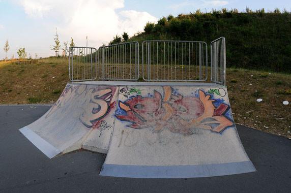 Quater-Pipe, Skate-Park. Am Goldgrund