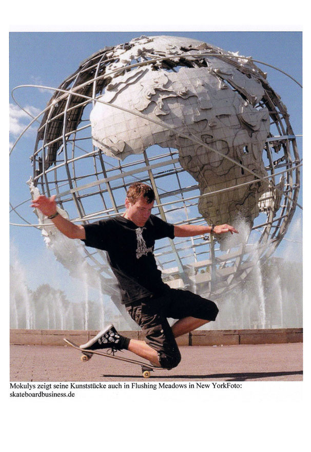 Guenter Mokulys. New York-Queens im Flushing-Meadows-Park am Unisphere.