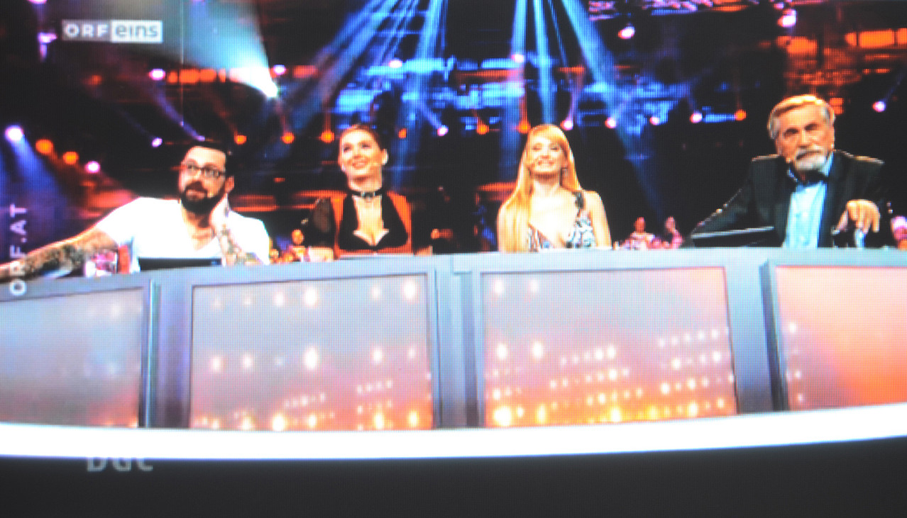 Die Jury: Sido,Karina Sarkissova, Zabine und Peter Rapp.