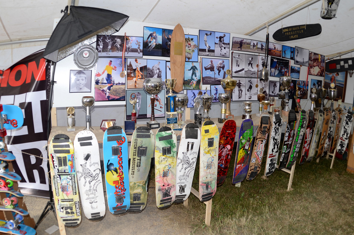 1983 - 1987 Contest. Pokale, Bilder, Skateboards.