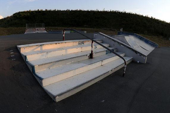 Stairs, Skate-Park. Am Goldgrund