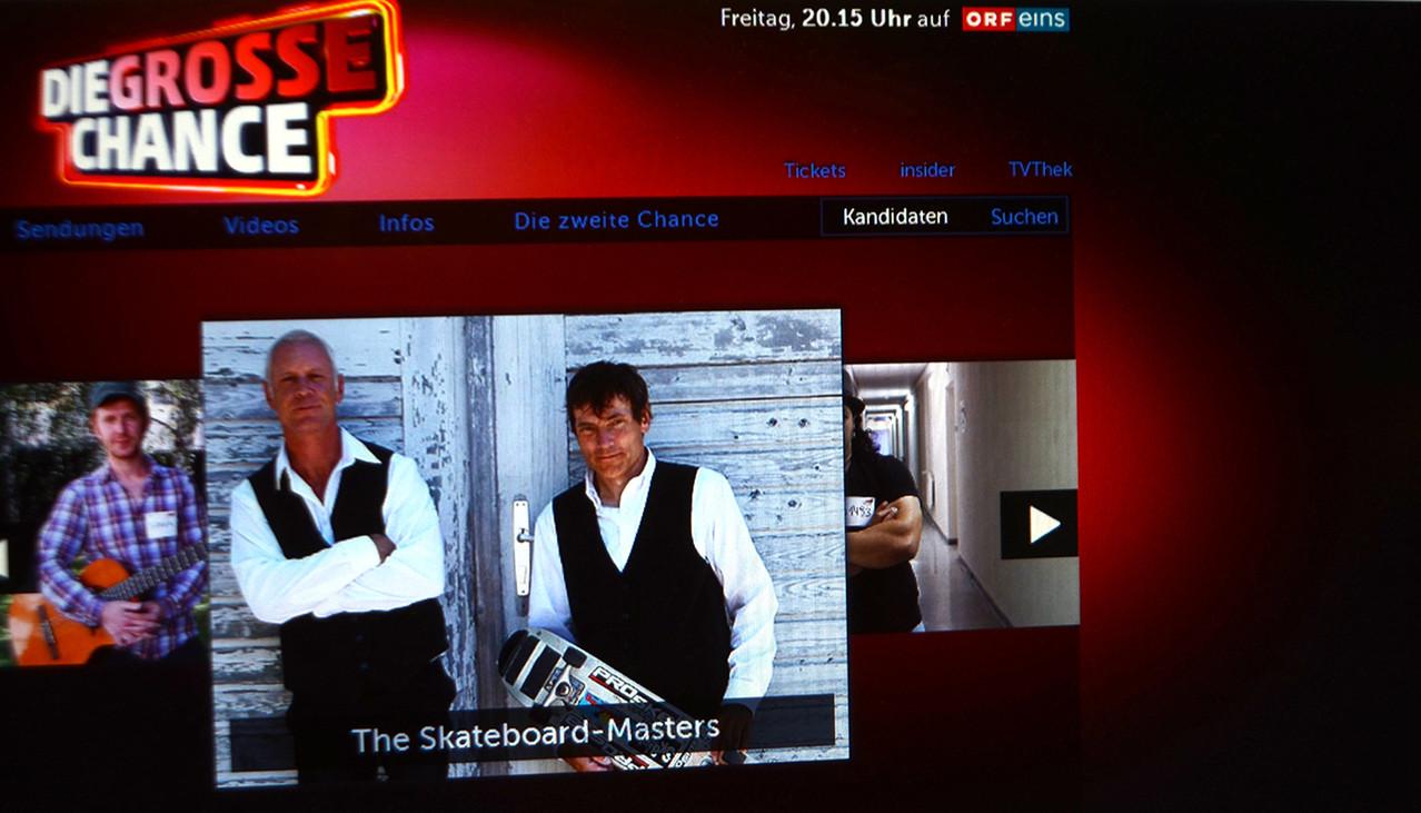 ORF eins, Die Grosse Chance. Die Skateboardmasters.