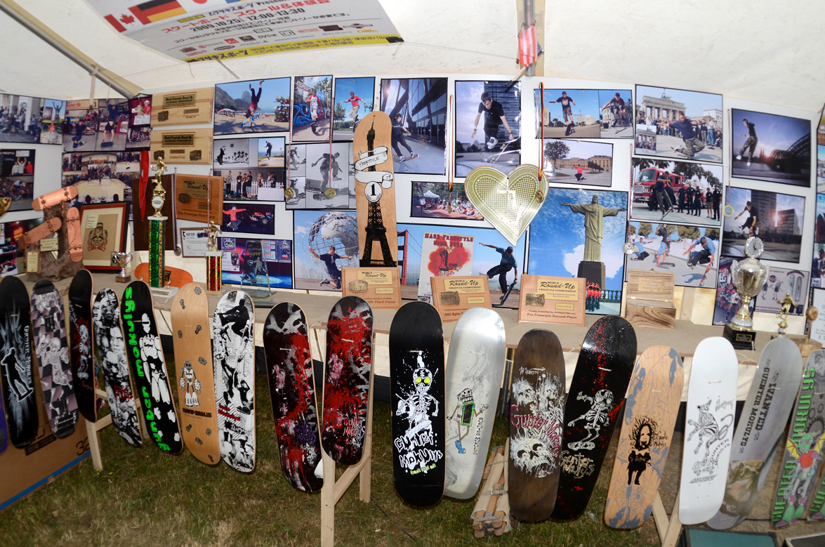 2002 - 2009 Contest. Pokale, Bilder, Skateboards.