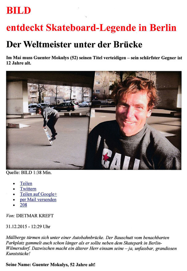 Bild entdeckt Skateboard-Legende in Berlin
