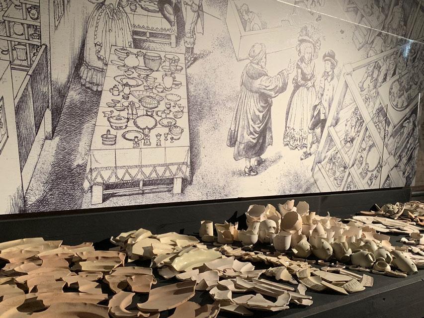 Classico POP (Crypta Balbi), frammenti di vasellame. Foto di A. Paionni