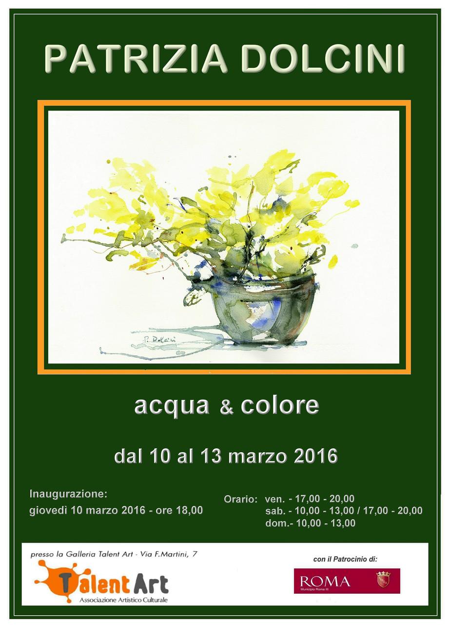 Mostra di Patrizia Dolcini presso la Galleria TalentArt - Locandina