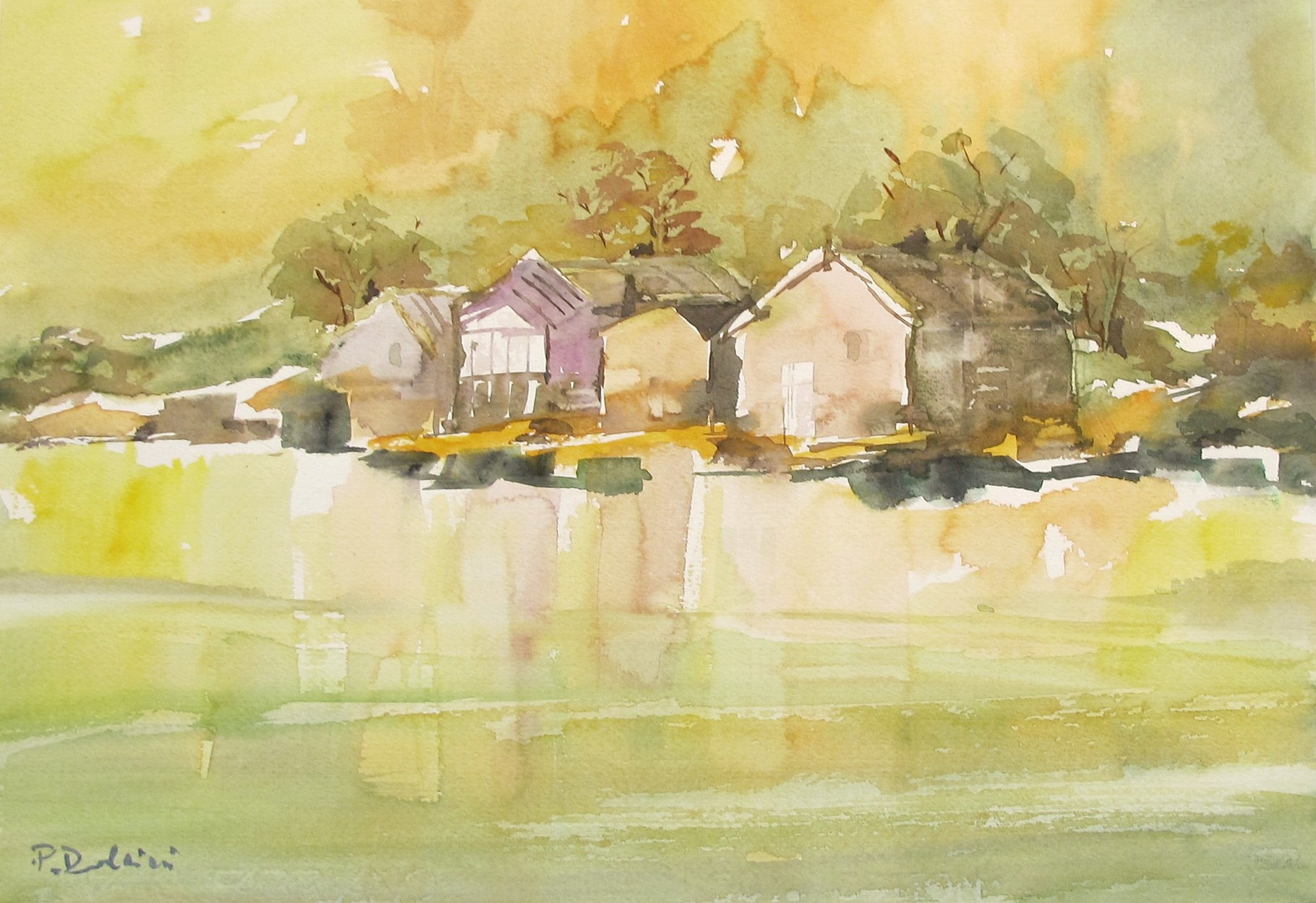 Country landscape - watercolour by Patrizia Dolcini