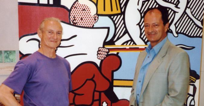 Carlo Bilotti con Roy Lichtenstein (foto)