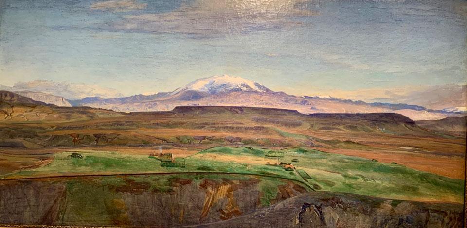 Panorama del monte Hekla, dipinto di Asgìmur Jònsson. Listasafn Islands
