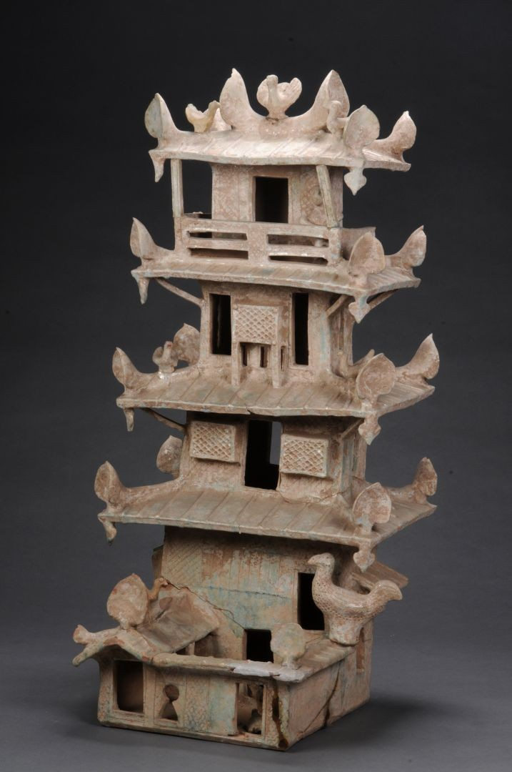 Torre di avvistamento smaltata (edificio funerario) - Dinastia Han (202 a.C. – 220 d.C.)