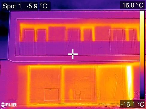 Vue générale de la partie du balcon posant problème