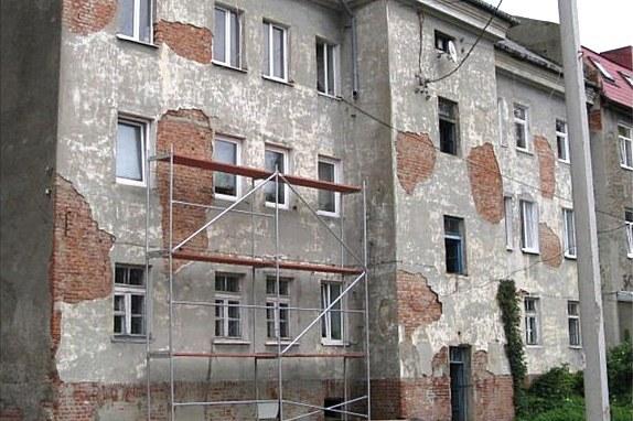 Дворовой фасад дома, вид до ремонта